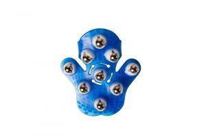 flowee massage handschoen van flowee in de kleur blauw