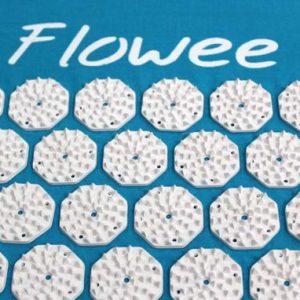 Flowee spijkermat kopen in blauw wit bij Yoga-pilatesshop.nl
