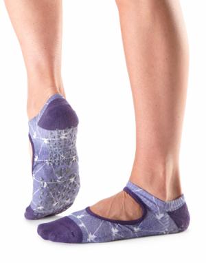 grip sokken pilates in lila van Tavi Noir bij yoga-pilatesshop.nl