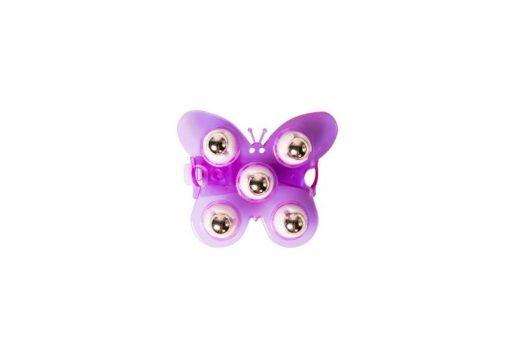 massage hanschoenen paars vlinder van Flowee geschikt voor kinderen