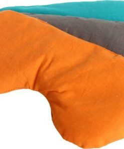 oogkussen lavendel en lijnzaad flowee oranje blauw en grijs oogkussen is gevormd