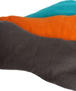 Oogkussen lijnzaad in oranje en turquoise kopen bij yoga-pilatesshop