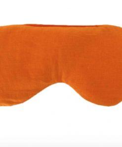 oogkussen yoga lavendel en lijnzaad oranje flowee gevormd