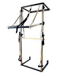 Pilates apparaat Half Cadillac kopen die aan de wand kan worden gemonteerd; kijk onze pilates apparatuur op yoga-pilatesshop