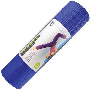 Pilates mat dikte 10 mm blauw pilatesmad bij yoga-pilatesshop.nl
