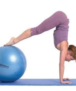 pilates oefeningen  met swiss ball