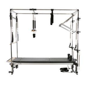 reformer pilates inclusief alle onderdelen die behoren bij het full cadillac frame voor het meest optimale gebruik van de pilates reformer