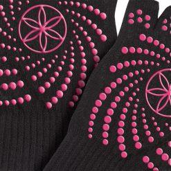sport handschoenen van Gaiam met roze antislip stippen kopen bij yoga-pilatesshop