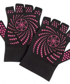sporthandschoenen met roze antislip stippen kopen bij yoga-pilatesshop.nl