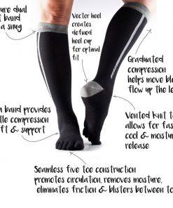 sportsokken met vijf tenen kopen bij yoga-pilatesshop