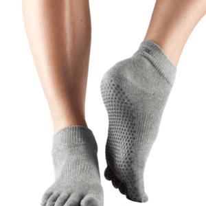 Vijf tenen sokken grijs ToeSox maat s m l