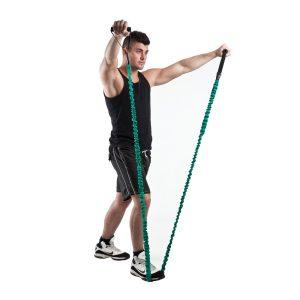 weerstandsband om je lichaam te trainen op kracht, balans en flexibiliteit
