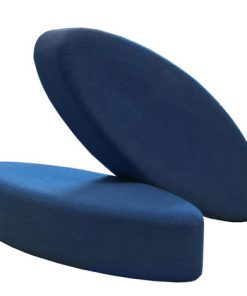 Yoga blok kopen in eivorm in de kleur blauw bij Yoga-pilatesshop.nl