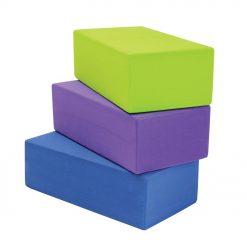 yoga blokken bestaan uit drie verschillende hoogtes, zodat oefeningen kunnen worden afgewisseld