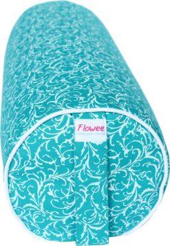 yoga bolster boekweit turquoise blauw van flowee ook yoga bolster groothandel