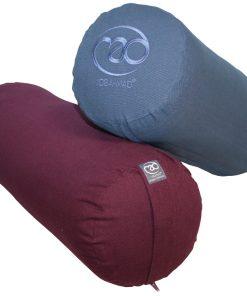 Yoga bolster kopen in de kleur blauw en pruim bij yoga-pilatesshop.nl