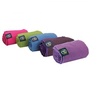 yoga handdoek antislip kan gebruikt worden als yoga mat en als yoga handdoek