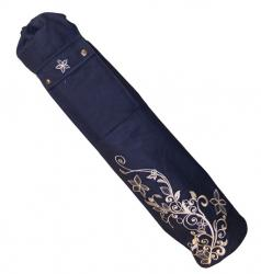yoga mat tas in blauw, paars en gebroken wit verkrijgbaar bij yoga-pilatesshop.nl