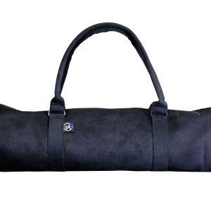 yoga mat tas in suède zwart kopen bij Yoga-pilatesshop in utrecht